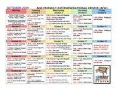 AFIC October Schedule