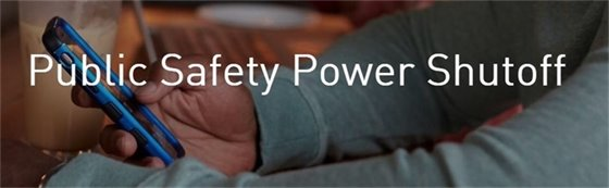 Public Safety Power Shutoff Update