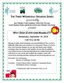 Third Wednesday Speaker Series Flyer