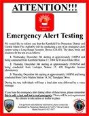 Emergency Alert Testing