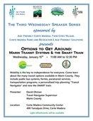 Third Wednesday Speaker Series: Options to Get Around
