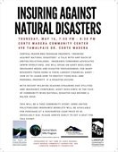 Insuring Against Natural Disasters