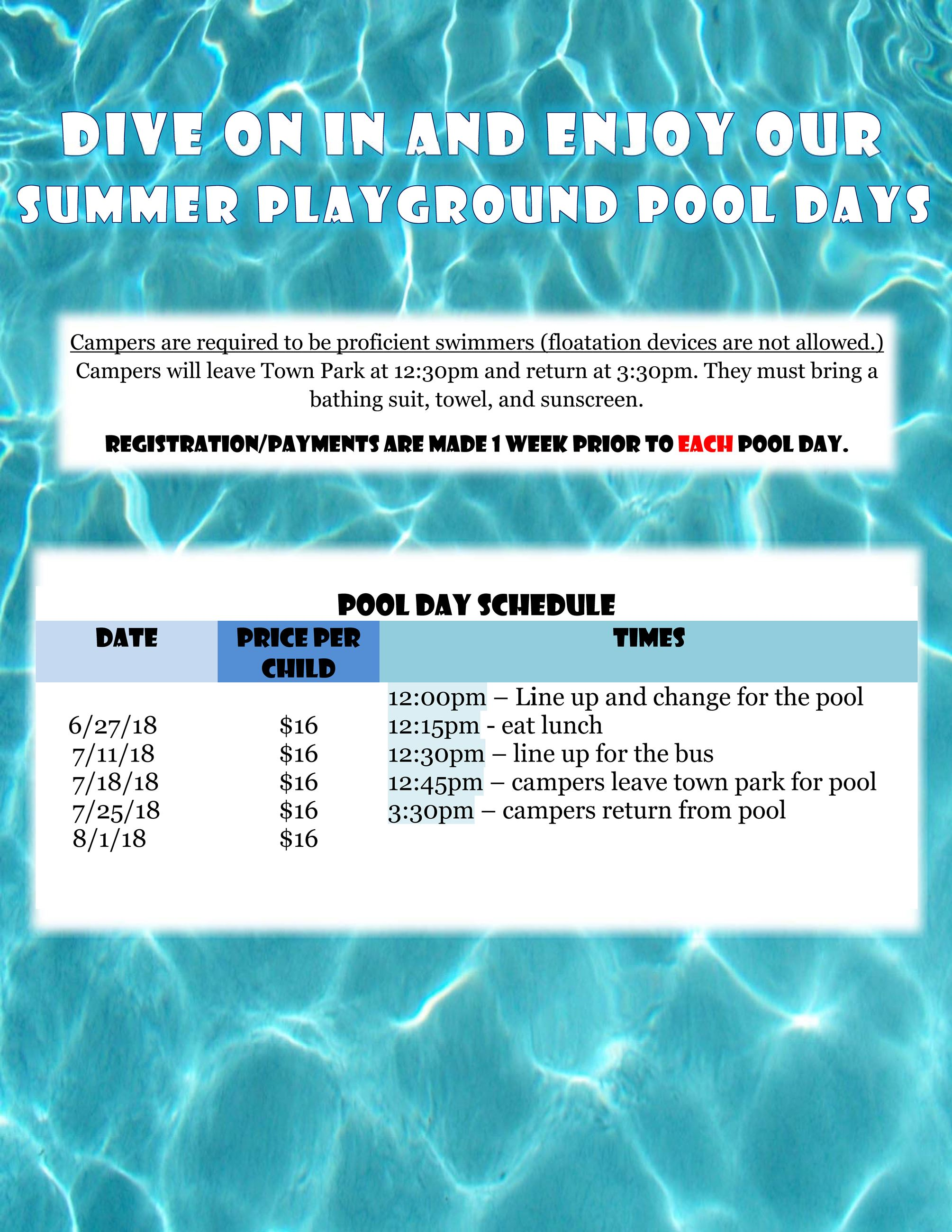 Pool Day Flyer