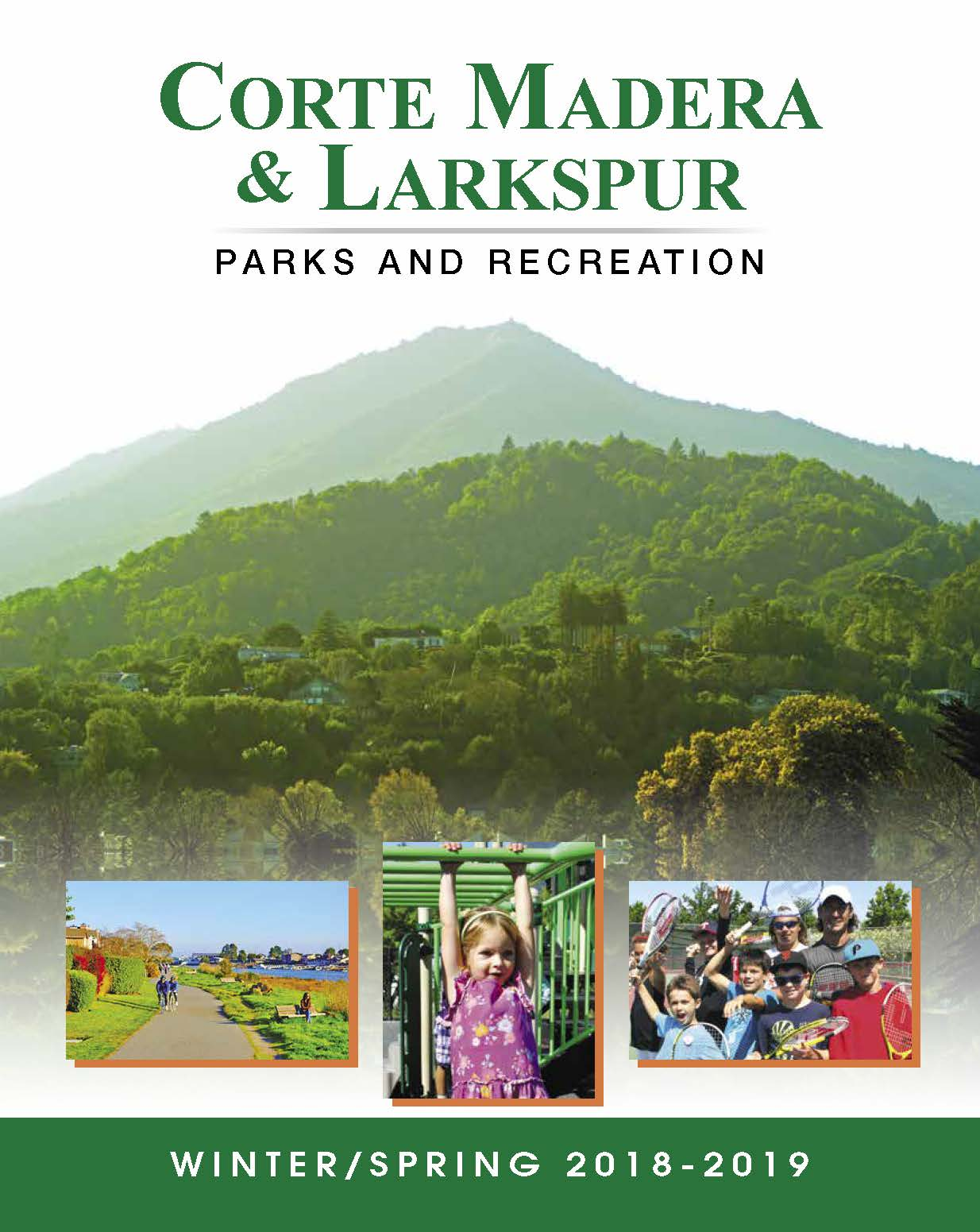 Parks and Recreation Winter/Spring 18-19 Brochure Cover