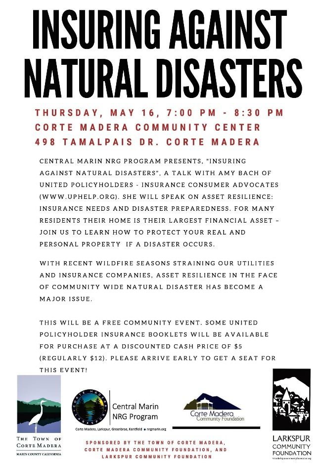 May 16th Flyer Insuring against Natural Disasters