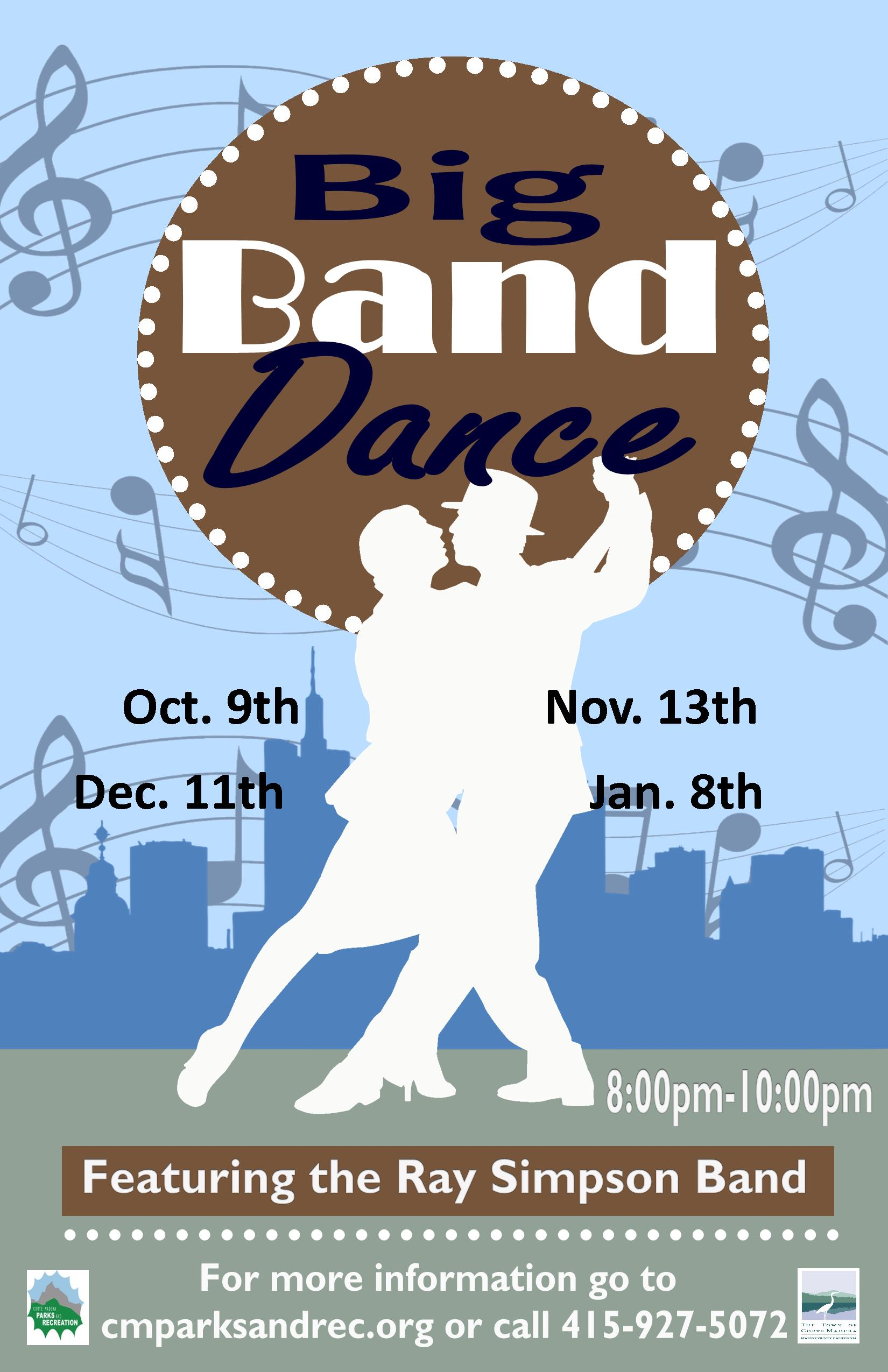 Big Band Dance Oct 2019 to Jan 2020